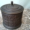 Embossed Metal Canister.... Another Humidor ?/ Marked Germany