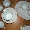 Beautiful Noritake Gold trimmed and gold scrolled decorative set never been used