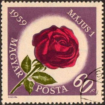 "Hungary - ""Labor Day Rose"" Postage Stamps - Stamps"