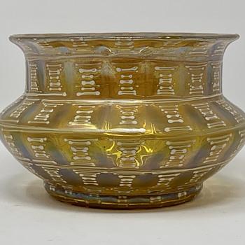 Loetz Urania-Silberiris vase with enamel fields, Otto Prutscher design, ca. 1929 - Art Glass