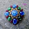 Trifari tm jewels of india brooch