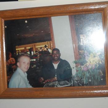 Cris Carter and I, and an autographed photo of Bob Lurtsema