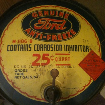 Vintage Ford Antifreeze 54 gallon drum - Petroliana