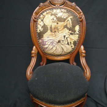 Victorian Parlor Chair  Nice Condition - Furniture
