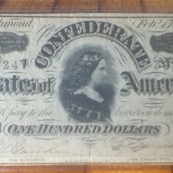 1864 Confederate Note - US Paper Money