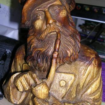 Carved Wood Bottle