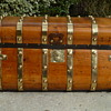 1846 - 1854 Six Brass Band Jenny Lind Antique Trunk