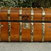 1846 - 1854 Six Brass Band Jenny Lind Antique Trunk