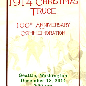 1914 Christmas Truce Centenial - Military and Wartime