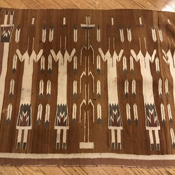 "Navajo  Yei rug 36"" wide by 27"" inch tall  - Native American"