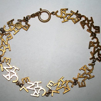 "Chanel ""C-H-A-N-E-L"" Gold-Tone Necklace  - Costume Jewelry"