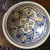 Vintage Italian Mediterranean Red Clay pottery - Blues, greens, yellows