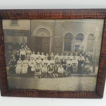 Old Photo in a Great Frame - Ruthenian Gr. Cath Church of St. John the Baptist -Newark NJ - c. 1915 - Photographs