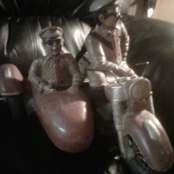 Police Motorcycle/sidecar - Model Cars