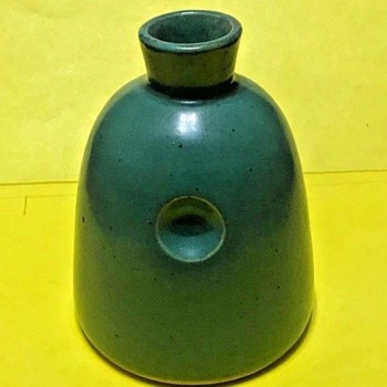 David Gil (1922-2002) for Bennington Potters Blue Green Odd Bottle Vase   - Pottery