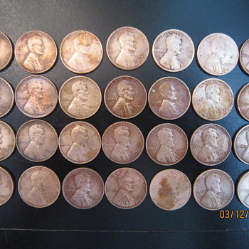 How I found an Assortment of Wheat Pennies From 1911 through Early 1950's