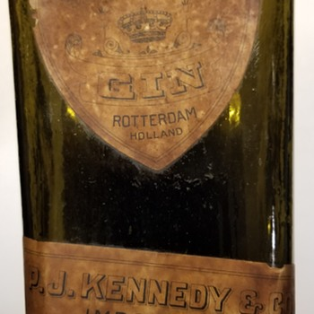 P.J. Kennedy & Co Gin bottle & Gordon Co. Dry Gin - Bottles