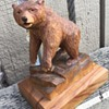 A great carved wooden bear.