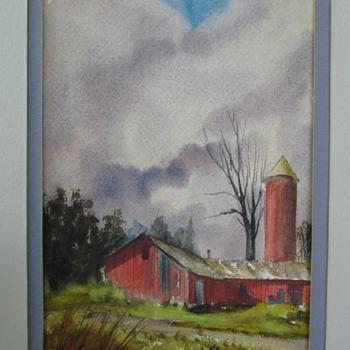 Vaughn Hord Watercolor, 1977