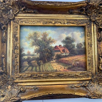 Beautiful Frame from George Rowney with oil painting - lost masterpiece?    - Fine Art