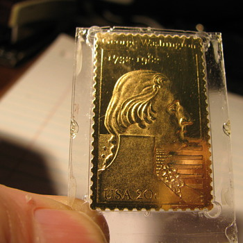 Twenty cent gold George Washington Postage Stamp