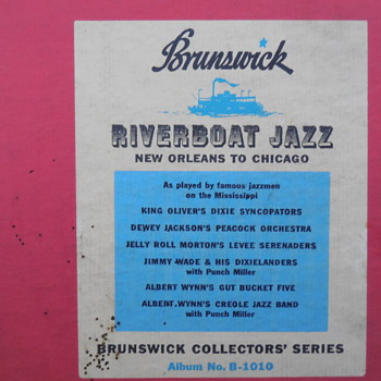 Old Brunswick Empty Record Album Case Riverboat Jazz Label - Music Memorabilia