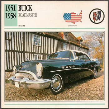 Vintage Car Card - Buick Roadmaster - Classic Cars