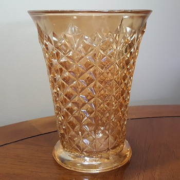 Sowerby Carnival Glass Vase - Glassware
