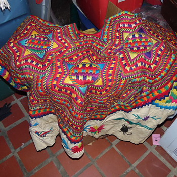 Antique Beautiful Native American Or Jewish Handmade Top Textile