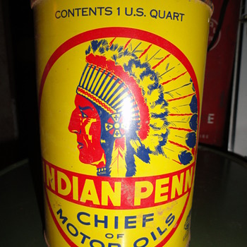 Indian Penn Oil Can ORIGINAL pick from AZ barn. - Petroliana
