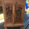 Small wooden carved elephant stand