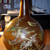 Hand Painted Antique Glass Bottle