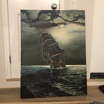 Please Help! Thriftstore find....OLD IRONSIDE REPO? - Fine Art