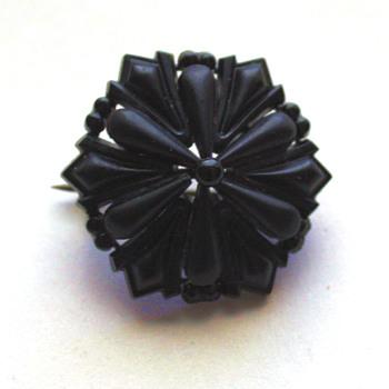 Antique vulcanite brooch? - Costume Jewelry
