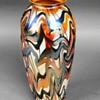 Durand Three Color Iridescent Vase c.1925
