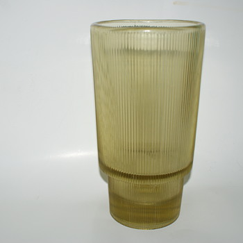Pressed Glass Vase: Czechoslovakia, designed by Rudolf Jurnikl for Rosice (pattern 992) in c.1962 (Thanks, ANIK) - Mid-Century Modern