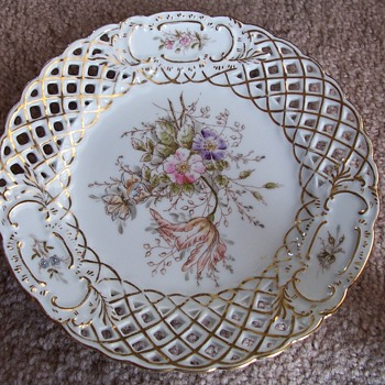 "Reticulated 6"" Plate Stamped 5633 - China and Dinnerware"