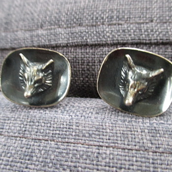 Silver cufflinks with foxes - Fine Jewelry