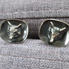 Silver cufflinks with foxes