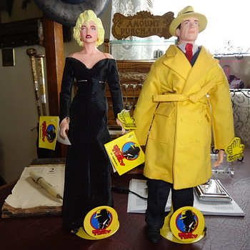 Dick Tracy And Breathless Madonna Figures - Toys