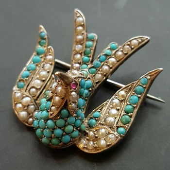 Victorian humming bird brooch. - Fine Jewelry