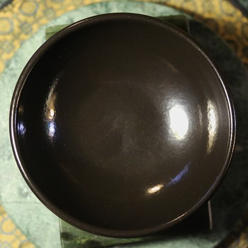 Black Cereal Bowl by Heath Ceramics, Sausalito, CA - Pottery
