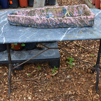 Marble-topped Iron Garden Table