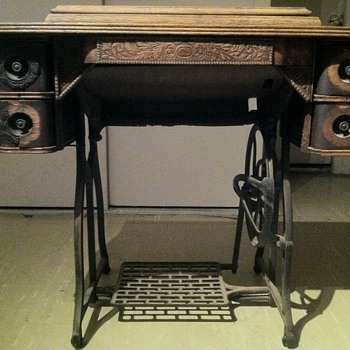 Late 1800's sewing machine cabinet - Sewing