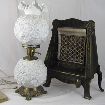 Neat Pick on Vintage Lamp & Antique Gas Heater - Lamps