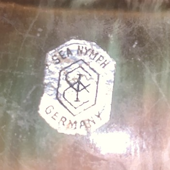 """Any info on a glazed pottery bowl with a sticker that reads """"Sea Nymph Germany"""" - Pottery"""