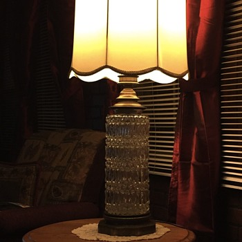 Vintage lamp crystal brass base - Lamps