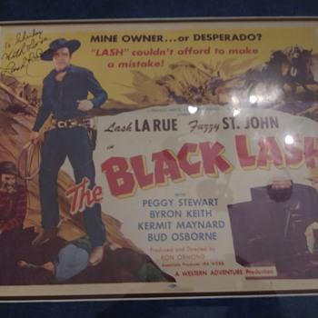Lash Larue Lobby Card - Movies