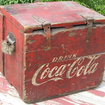 Wooden Coca-Cola Cooler - Coca-Cola