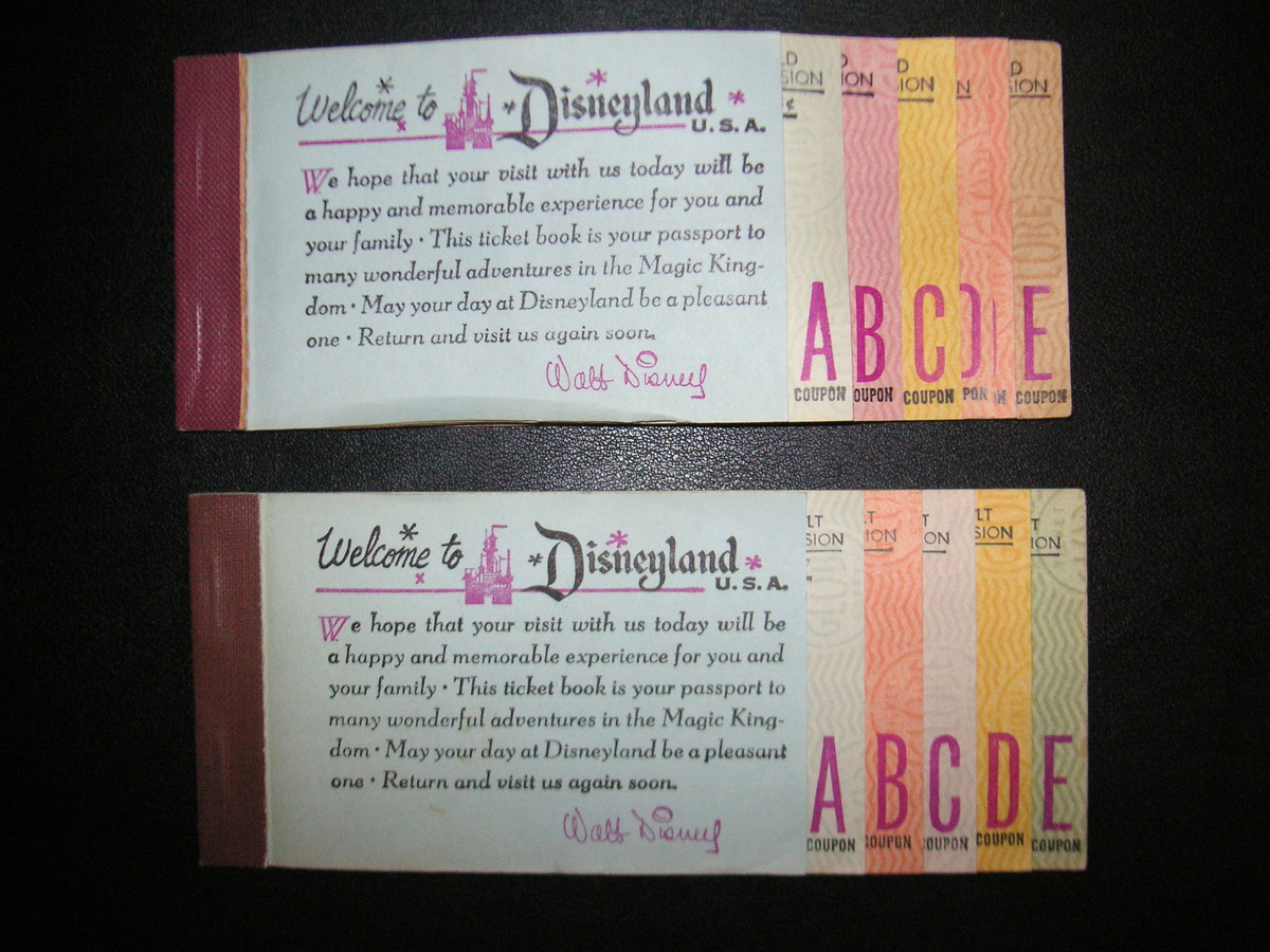 old disneyland coupon books